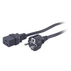 Кабель питания APC Power Cord, C19 CEE/7 Schuko, 2.5m