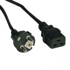 Кабель питания Tripp Lite Power Cord, C19 CEE/7 Schuko, 2.5m Cable replacement APC AP9875