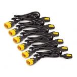 Кабель питания Tripp Lite Power Cord Kit (6 ea) Locking C13 C14 0.6m Cable replacement APC AP8702S