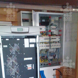 Установка ИБП   Eaton 9355 общей мощностью 30 кВА для загородного дома