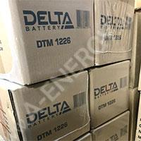 Отгрузка аккумуляторных батарей Delta DTM 1226